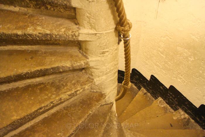 ブルージュ鐘楼らせん階段