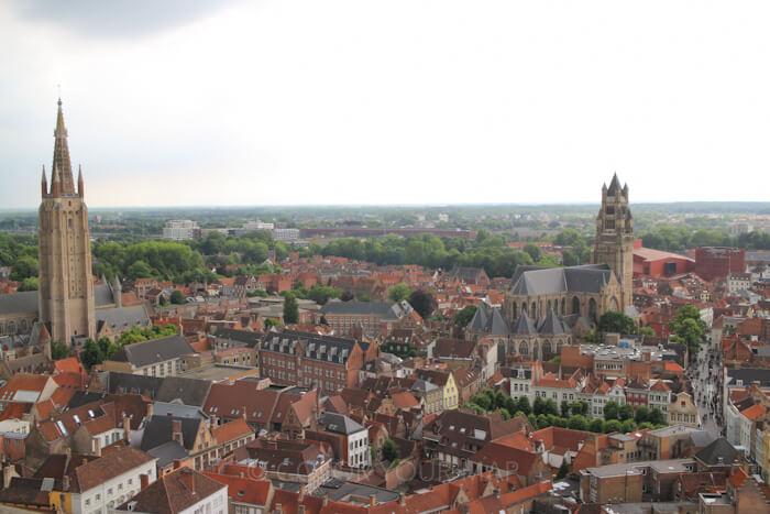 ブルージュ鐘楼展望台からの景色