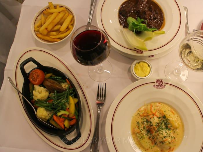 ブリュッセルの老舗レストランAuxArmesdeBruxelles
