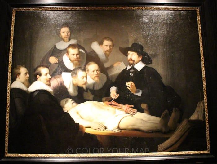 マウリッツハイス王立美術館所蔵レンブラントテュルプ博士の解剖学講義
