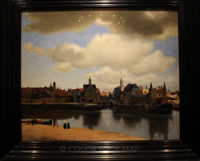 マウリッツハイス王立美術館所蔵フェルメールデルフトの眺望