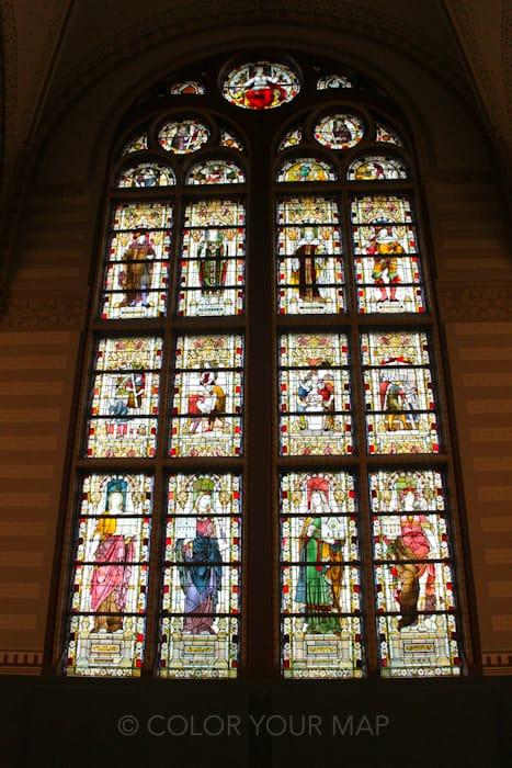 アムステルダム国立美術館ステンドグラス