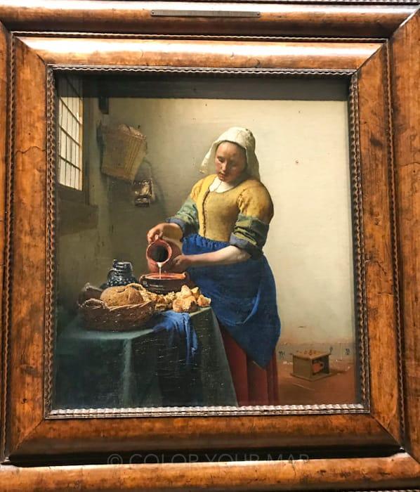 アムステルダム国立美術館所蔵のフェルメール牛乳を注ぐ女