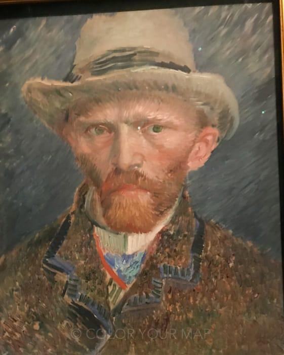アムステルダム国立美術館所蔵のゴッホ自画像