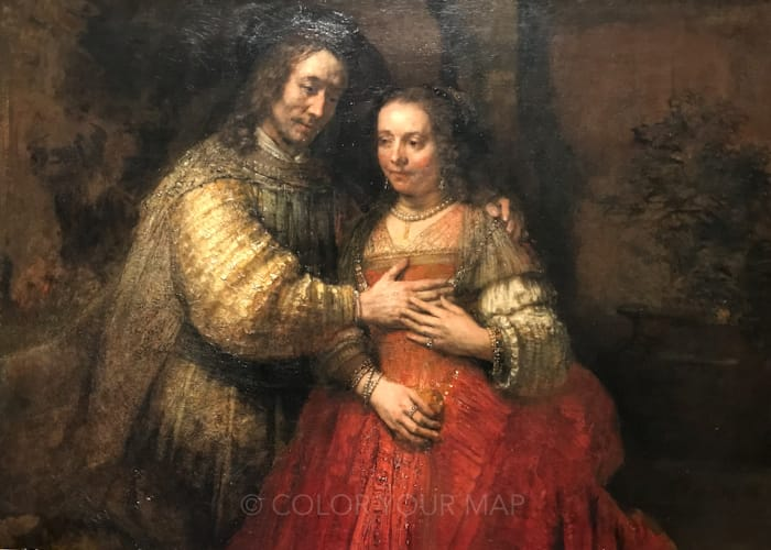 アムステルダム国立美術館所蔵のレンブラントユダヤの花嫁