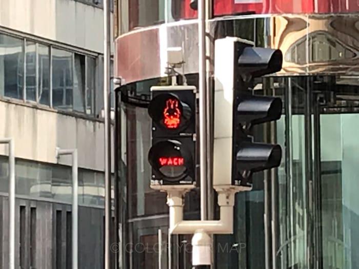ユトレヒトにあるミッフィー信号機
