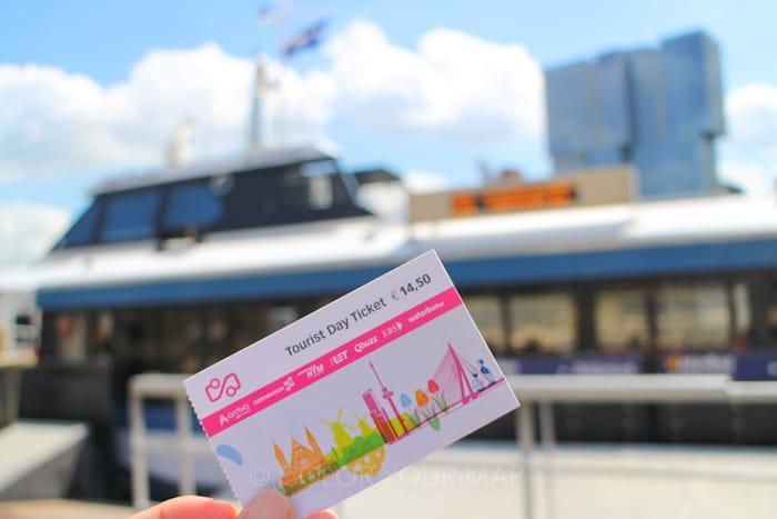 オランダで水上バスにも乗れる公共交通機関1日乗車券TouristDayTicket
