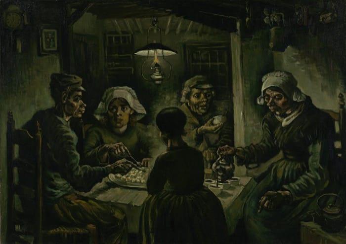 アムステルダムゴッホ美術館所蔵馬鈴薯を食べる人々