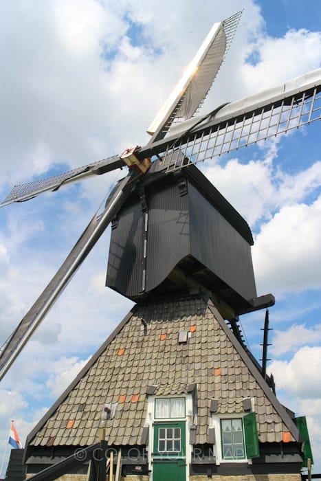 キンデルダイクの風車ブロックウェア外観