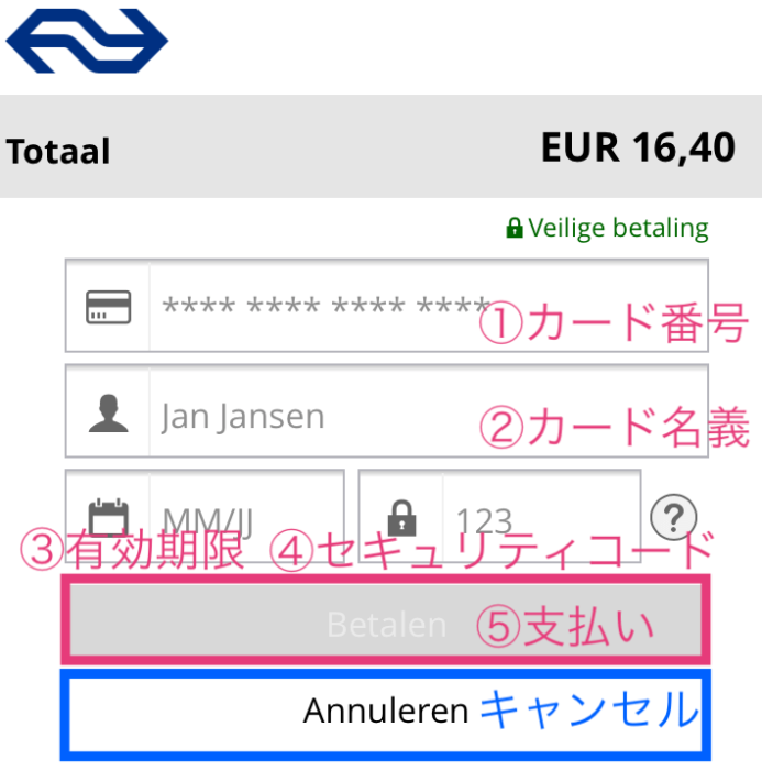 オランダ鉄道NS公式アプリから路線・出発時刻・所要時間・運賃を検索する方法