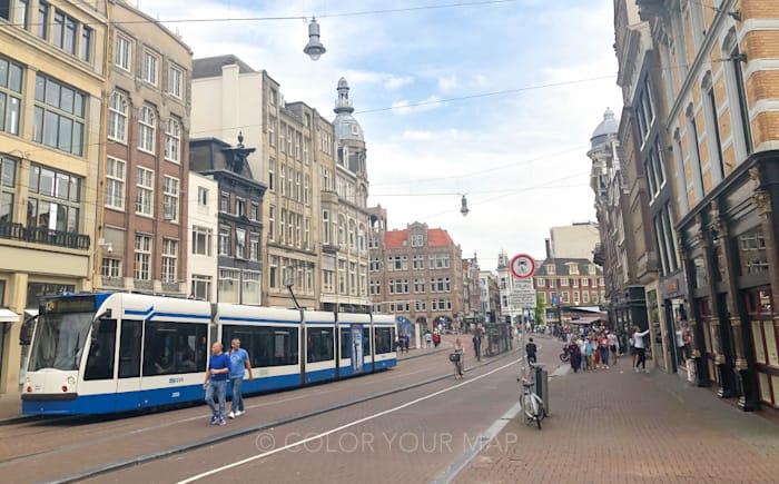 アムステルダム観光に便利なトラム