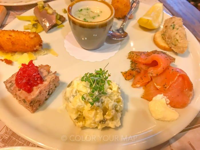 アムステルダムのオランダ伝統料理レストランHaesjeClaes前菜