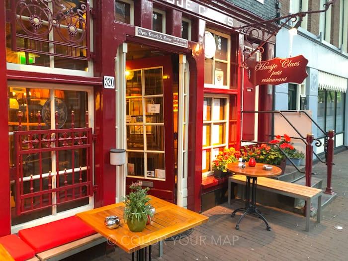 アムステルダムのオランダ伝統料理レストランHaesjeClaes外観