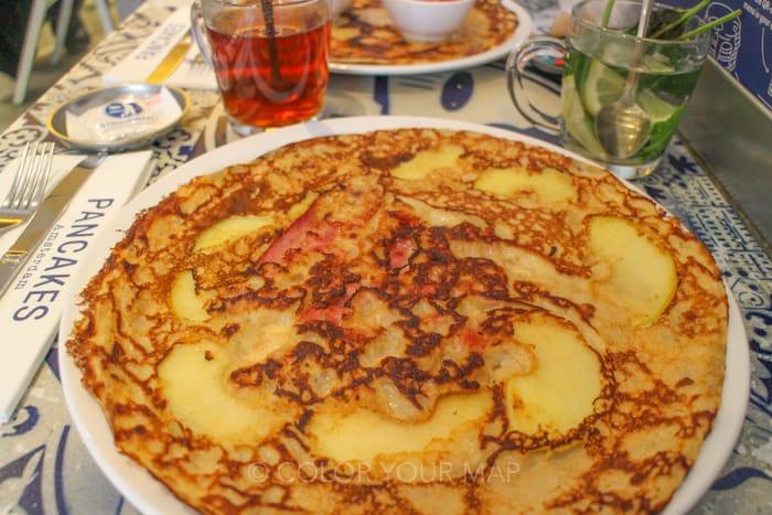 アムステルダムりんごとベーコンのダッチパンケーキ