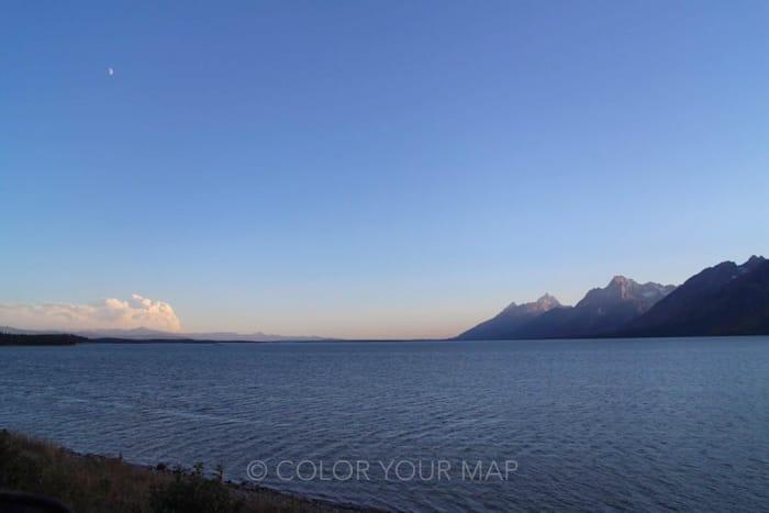 グランドティートン国立公園のコルターベイ