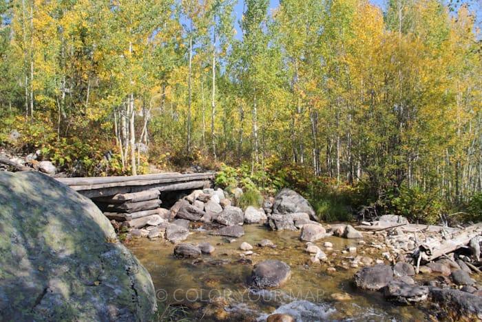 グランドティートン国立公園でタグガートレイクとブラッドリーレイクをまわるトレイル