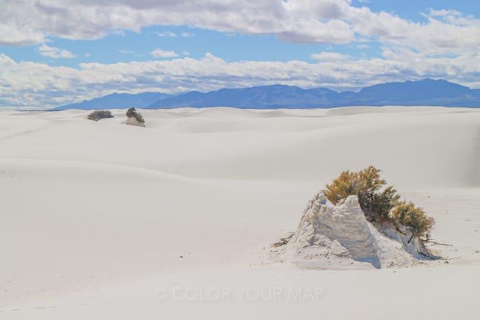 ホワイトサンズ国立公園のトレイル