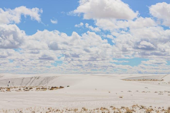 天気がいい日のホワイトサンズ国立公園