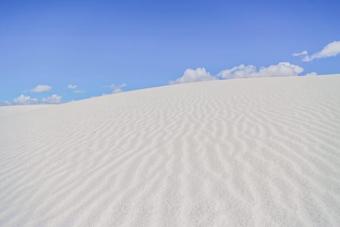 世界的にも珍しい真っ白な石膏砂丘が見られるホワイトサンズ国立公園