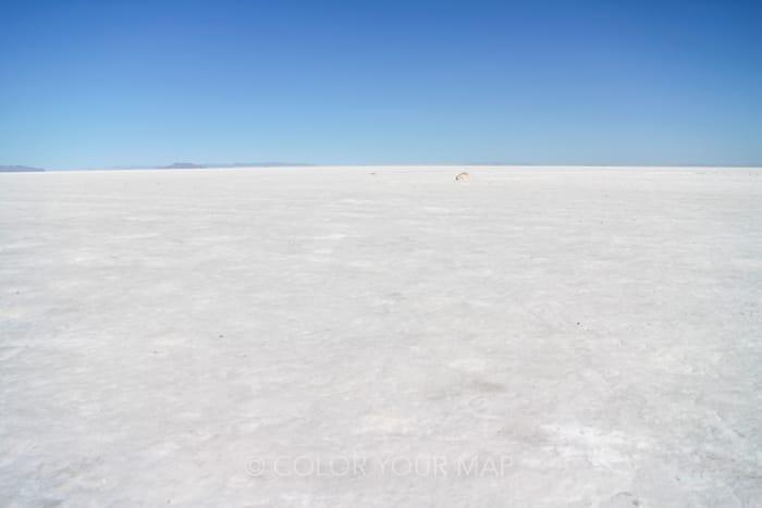 アメリカユタ州にある乾季のボンネビルソルトフラッツ