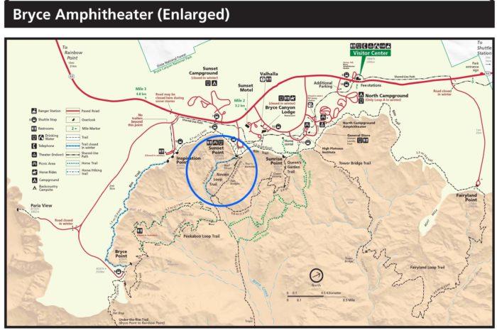 ブライスキャニオン国立公園の人気トレイルNavajo Loop(ナバホ・ループ)
