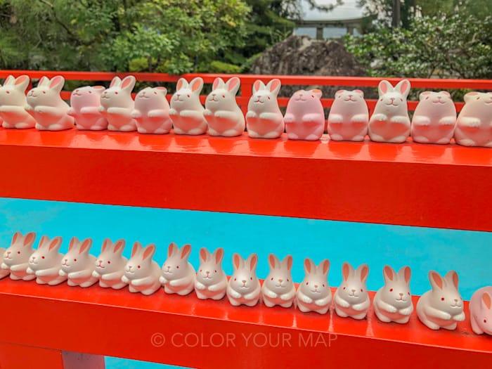 京都にある東天王岡崎神社のうさぎみくじ
