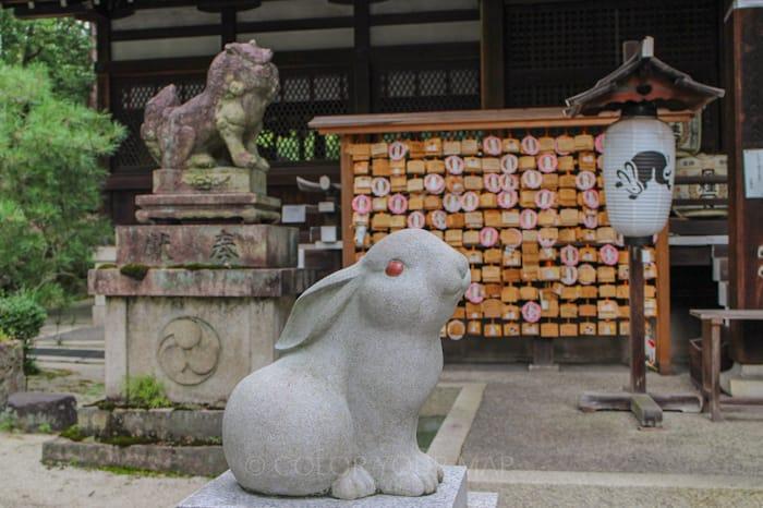 京都にある東天王岡崎神社にはうさぎモチーフがいっぱい