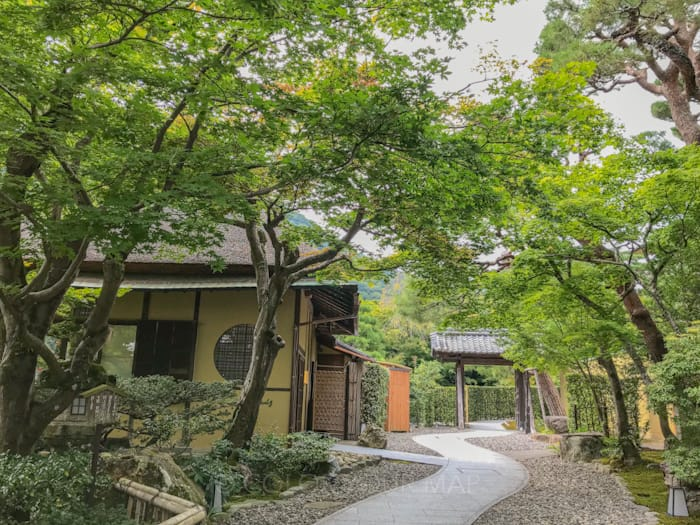翠嵐ラグジュアリーコレクションホテル京都のシャンパンディライトの会場となる茶寮八翠