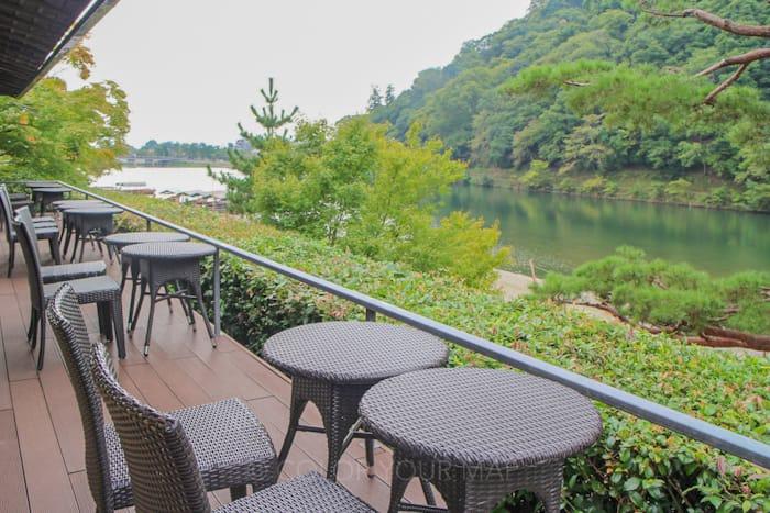 翠嵐ラグジュアリーコレクションホテル京都のシャンパンディライト会場からの眺め