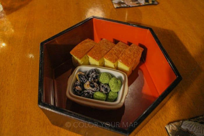 翠嵐ラグジュアリーコレクションホテル京都のシャンパンディライトのおつまみ