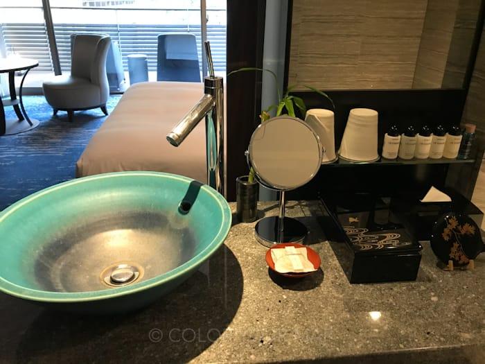 翠嵐ラグジュアリーコレクションホテル京都の洗面台
