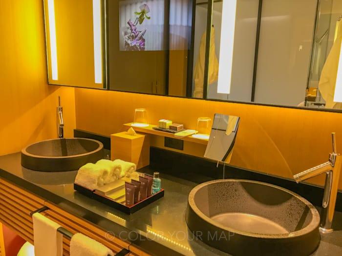 ザリッツカールトン京都の洗面台