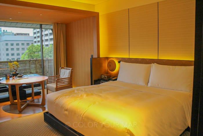ザリッツカールトン京都のベッドルーム