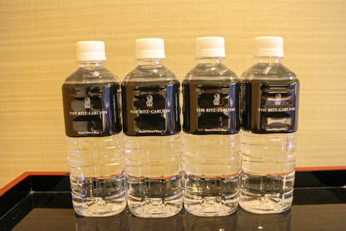 ザリッツカールトン京都の無料ペットボトルの水