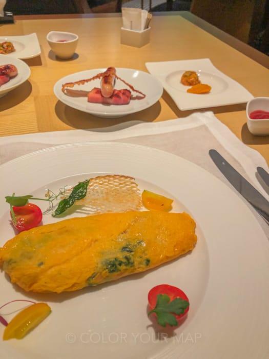 ザリッツカールトン京都の朝食オムレツ