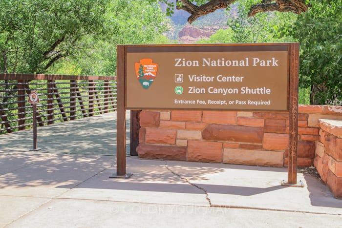 ザイオン国立公園のビジターセンターは混雑しやすい
