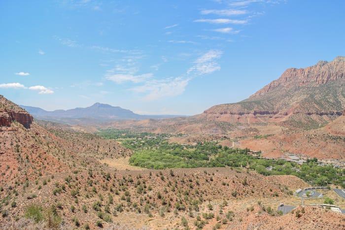 Watchman Trailウォッチマントレイルのゴール地点からの眺望