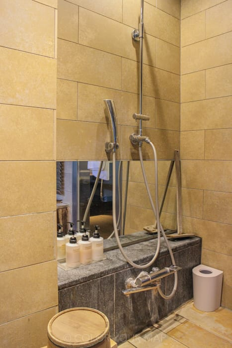 きたの風茶寮の客室シャワー