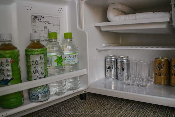きたの風茶寮の客室冷蔵庫に入っている飲み物は無料