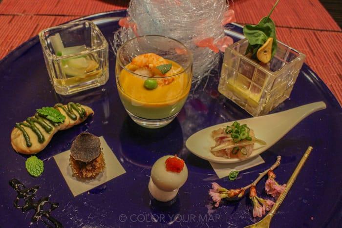 きたの風茶寮の夕食 旬菜