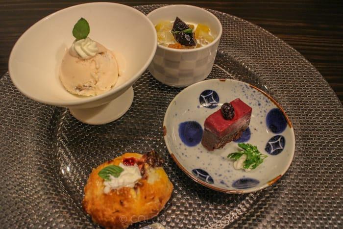 きたの風茶寮の夕食 デザート