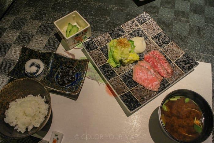 天翠茶寮の夕食 黒毛和牛のロースト