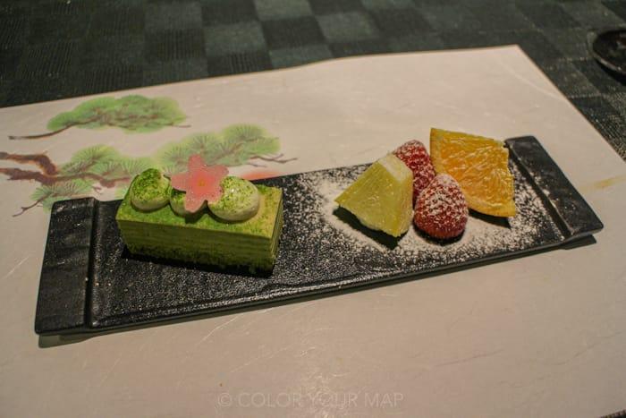 天翠茶寮の夕食デザート