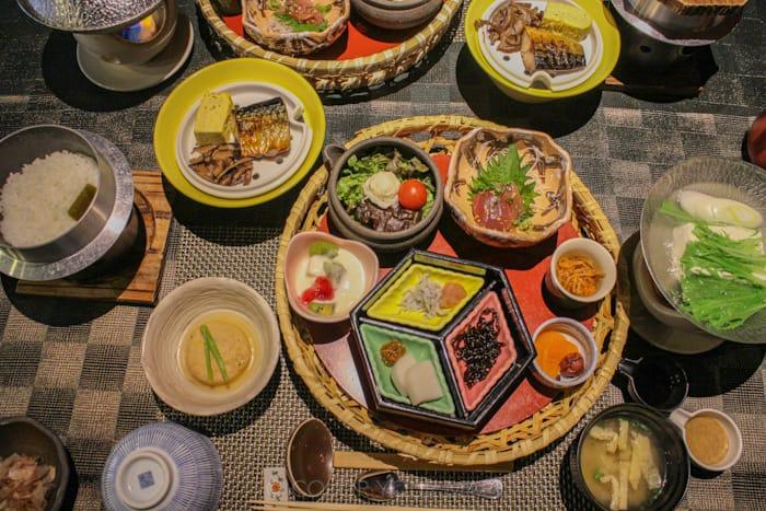 天翠茶寮の朝食