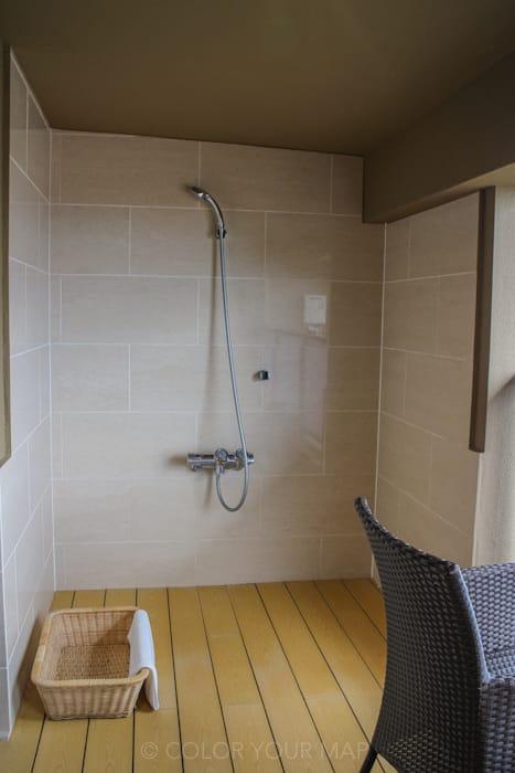 天翠茶寮の客室にあるシャワー