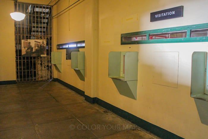 アルカトラズ刑務所の面会場所